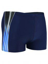 Ombre Color Spliced Swimming Trunks