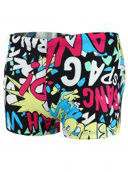 Colorful Graphic Pattern Swimming Trunks - COLORMIX