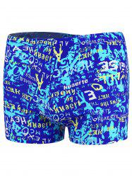 Graphic Pattern Drawstring Swimming Trunks