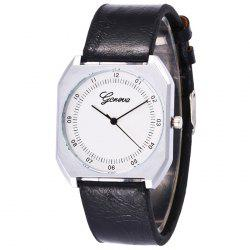Faux Leather Strap Number Wrist Watch