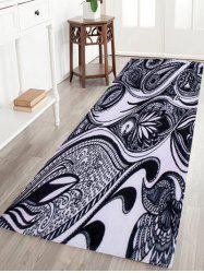 Coral Fleece Artistic Peacock Feather Area Rug