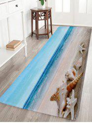 Non-Slip Beach Scenery Soft Coral Fleece Area Rug - COLORMIX