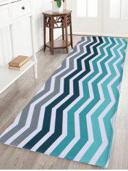 Coral Fleece Wave Stripe Antislip Area Rug
