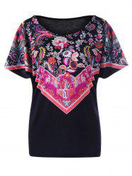 Paisley and Floral Plus Size T-Shirt