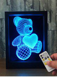 3D Visual Bear Shape Color Change LED Night Light