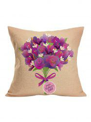 Floral Happy Mother's Day Pillow Case
