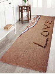 Coral Velvet Antislip Beach Style Bathroom Rug - LIGHT BROWN