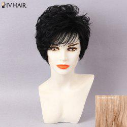 Siv Hair Inclined Bang Short Shaggy Layered Natural Straight Human Hair
