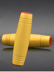Desk Toy Wooden Flip Fidget Roller - YELLOW