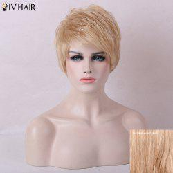 Siv Hair Layered Shaggy Side Bang Short Silky Straight Human Hair Wig