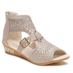 Buckle Strap Hollow Out Sandals