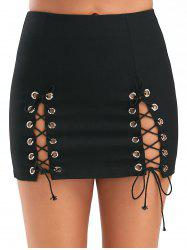 High Slit High Waisted Club Mini Skirt