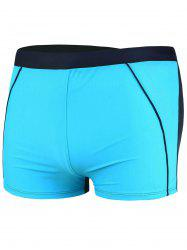 Lace Up Color Block Swimming Trunks