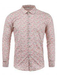 Tiny Flowers Print Long Sleeves Shirt