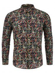 Paisley Pattern Long Sleeves Shirt