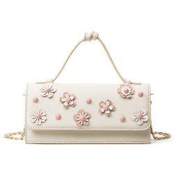 Flap Flowers Handbag with Chains