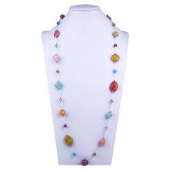 Resin Beads Oval Necklace
