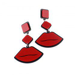 Acrylic Lips Geometric Drop Earrings