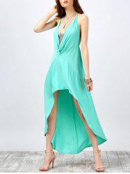 Halter Backless High Low Prom Dress