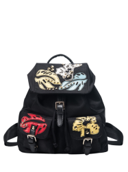 Nylon Rivet Patches Backpack