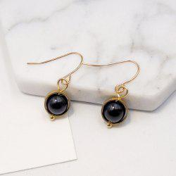 Faux Agate Ball Bead Drop Earrings