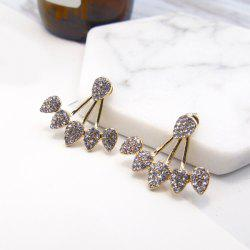 Rhinestoned Triangle Ear Jackets