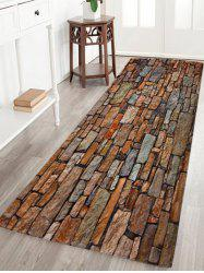 Coral Velvet Absorption Brick Pattern Bath Rug - COLORMIX