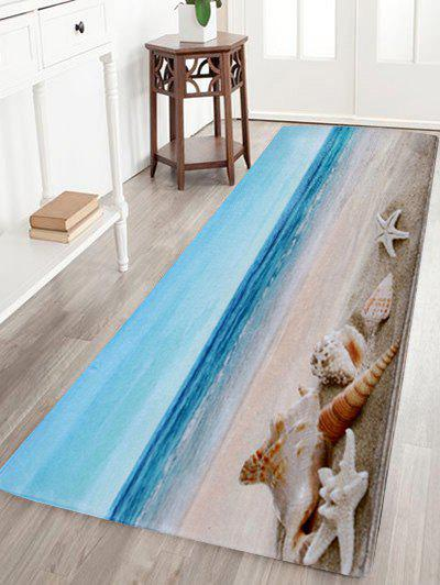 Non-Slip Beach Scenery Soft Coral Fleece Area RugHOME<br><br>Size: W24 INCH * L71 INCH; Color: COLORMIX; Products Type: Bath rugs; Materials: Coral FLeece; Pattern: Scenic; Style: Beach Style; Shape: Rectangle; Package Contents: 1 x Area Rug;