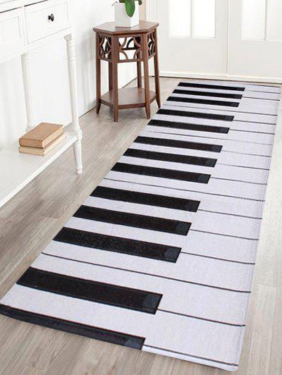 Home Floor Decor Coral Velvet Piano Keyboard Area RugHOME<br><br>Size: W16 INCH * L47 INCH; Color: BLACK WHITE; Products Type: Bath rugs; Materials: Coral FLeece; Pattern: Print; Style: Fashion; Shape: Rectangle; Package Contents: 1 x Area Rug;