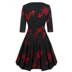 Vintage Fit and Flare Floral Dress -
