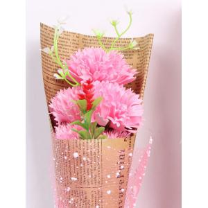 Creative Mother's Day Gift Carnation Soap 5PCS Artificial Flower - PINK