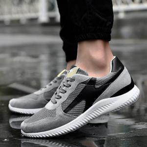 Breathable Suede Insert Mesh Trainers -