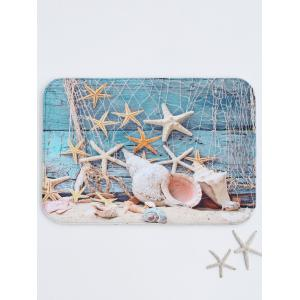 Starfish Print Absorbent Bath Rug