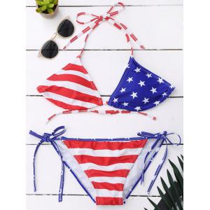 American Flag String Bikini Patriotic Swimwear