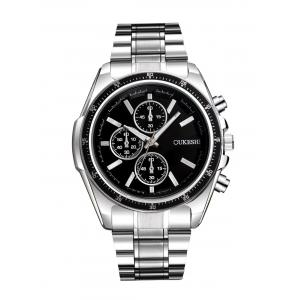 Number Steel Strap Quartz Watch
