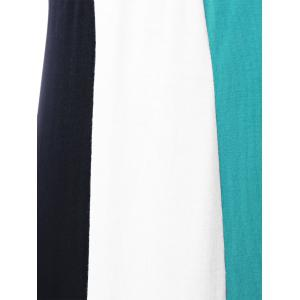 Color Block Maxi Plus Size Tank Dress - COLORMIX 5XL