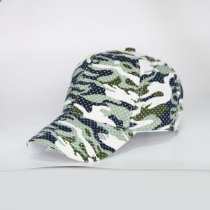 Camouflage Polka Dot Outdoor Army Baseball Hat - Light Green - One Size