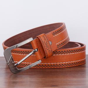 Spindrift Pattern Pin Buckle PU Wide Belt -