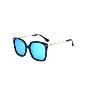 Metal Leg Mirrored Butterfly Sunglasses