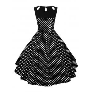Pin Up Polka Dot Vintage Flare Dress -