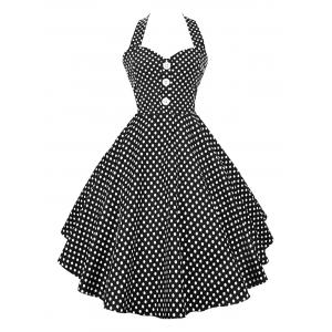 Polka Dot Halter Vintage Dress