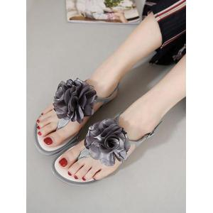 Flower Patent Leather Sandals -