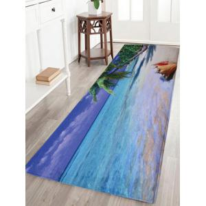 Water Absorbent Coral Fleece Beach Area Rug