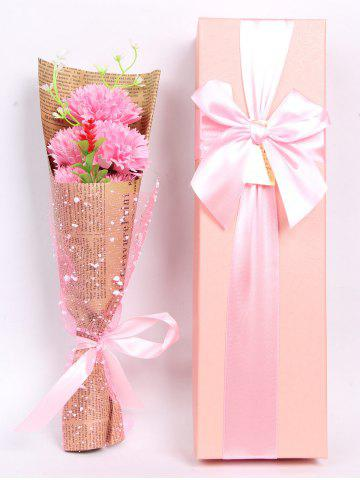 Outfits Creative Mother's Day Gift Carnation Soap 5PCS Artificial Flower PINK