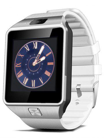 Outfits DZ09 Bluetooth Smart Watch with Sleep Monitor Pedometer Camera Single SIM - WHITE  Mobile