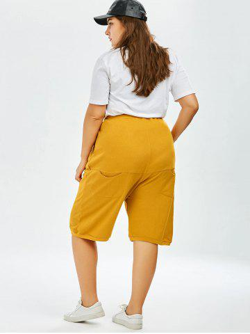 Trendy Plus Size Drawstring Wide Leg Pants - ONE SIZE GINGER Mobile