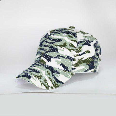 Camouflage Polka Dot Outdoor Army Baseball Hat - Light Green - L