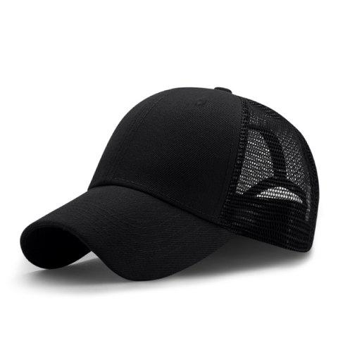 Outfits Breathable Mesh Insert Outdoor Baseball Hat - BLACK  Mobile