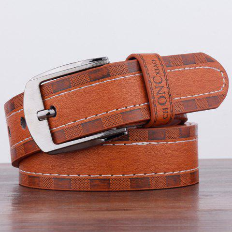 Choncxiao Pin Buckle Retro Wide Belt Brun