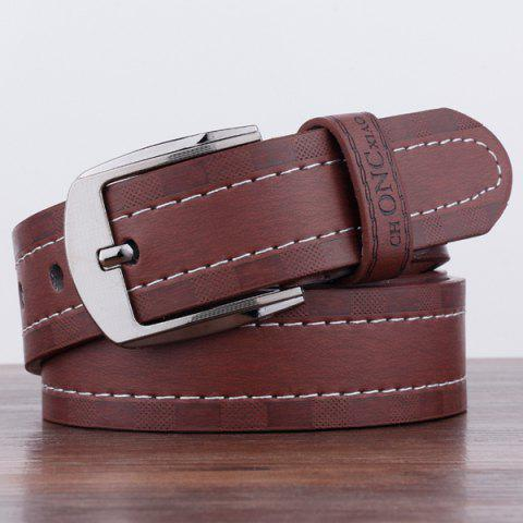 Affordable Choncxiao Pin Buckle Retro Wide Belt